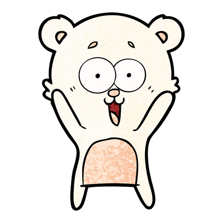 Laughing teddy bear cartoon
