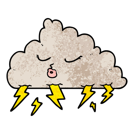 cartoon thundercloud Reklamní fotografie - 95727764