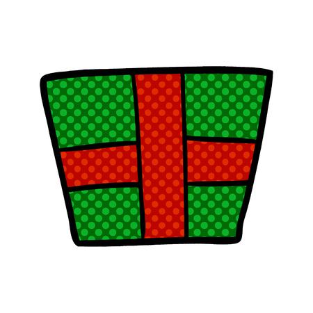 Cartoon christmas present Ilustração