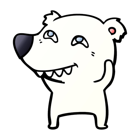 Polar bear cartoon Stock Illustratie