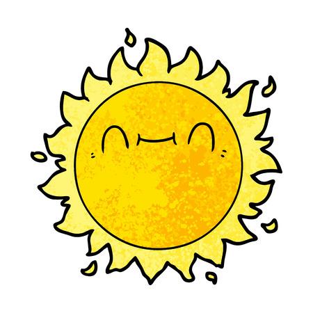 Happy cartoon sun Banque d'images - 95769524