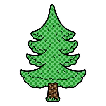 Cartoon Christmas tree illustration