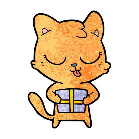 cute cartoon cat Vector illustration. 向量圖像