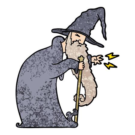 cartoon wizard Vector illustration.