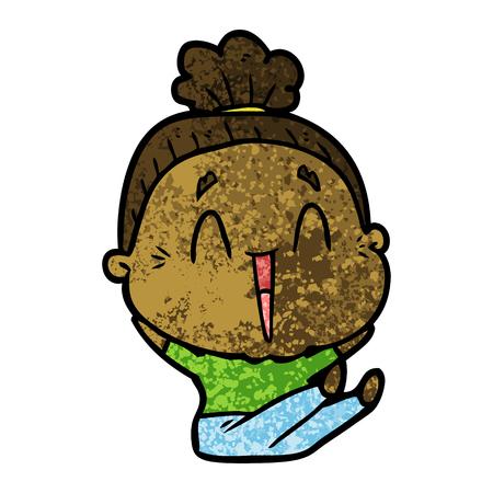 Cartoon happy old lady Stock fotó - 95769680