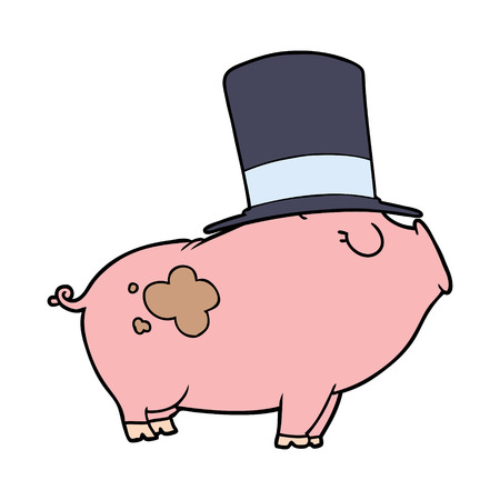 Cartoon rich pig
