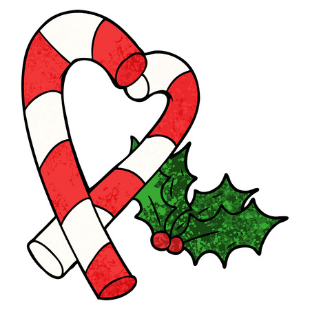 Cartoon candy cane