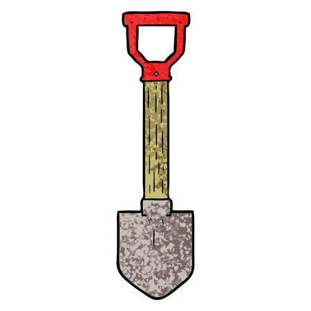 cartoon shovel Vector illustration.  イラスト・ベクター素材