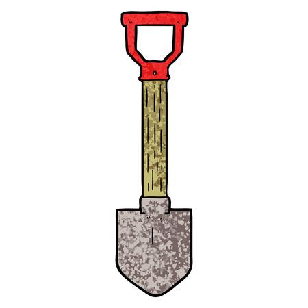 cartoon shovel Vector illustration. Stock Illustratie
