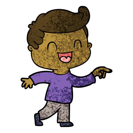 Cartoon glücklicher Mann , der Vektor-Illustration zeigt Standard-Bild - 95859207