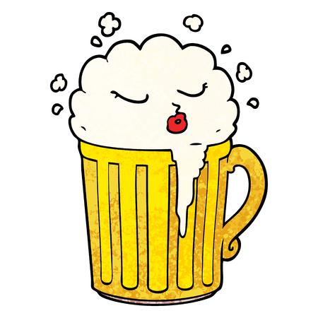 cartoon mug of beer Vector illustration. 向量圖像
