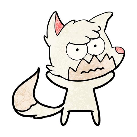 Cartoon annoyed fox Stock Vector - 95762676