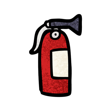 Cartoon fire extinguisher
