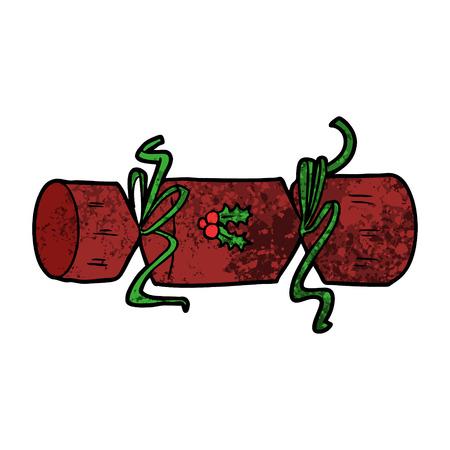 christmas cracker cartoon Vector illustration.