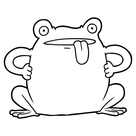 Cartoon toad Illustration