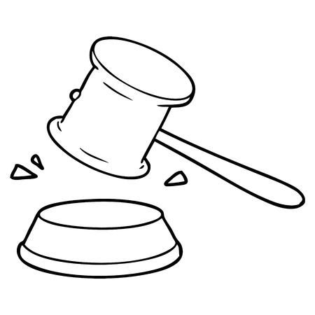 Cartoon gavel Ilustração