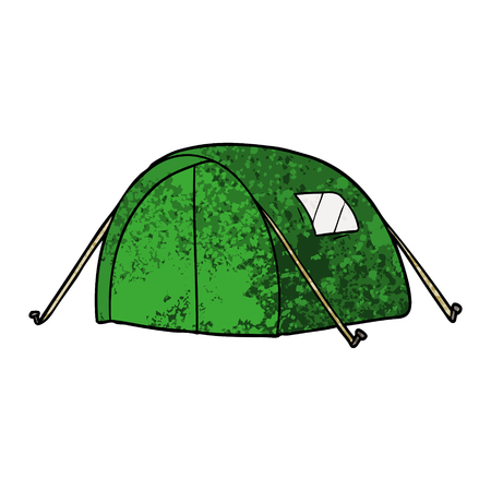 Cartoon green tent