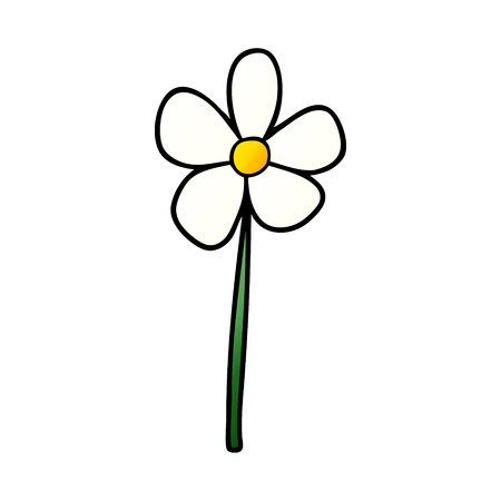 Cartoon single flower