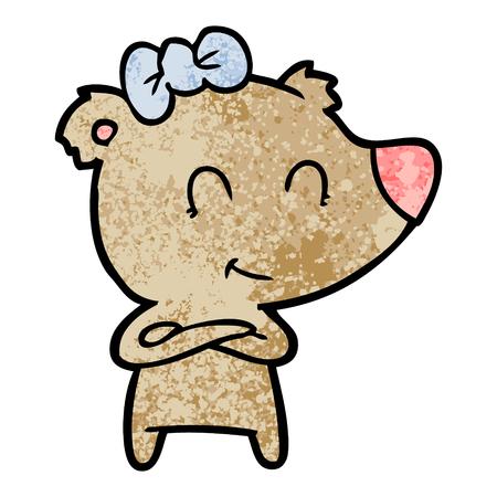 female bear cartoon