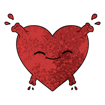 cartoon happy heart