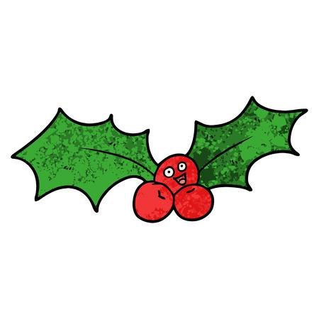 Cartoon christmas holly