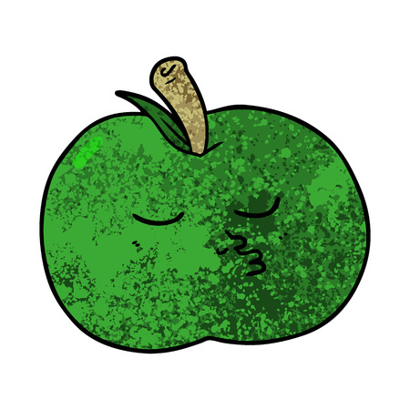 cartoon high quality apple