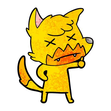 Cross eyed fox cartoon character