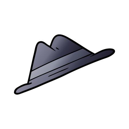 Cartoon blue hat