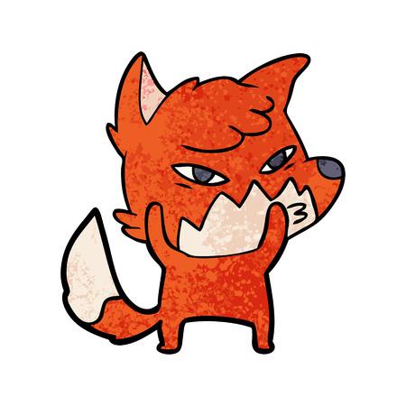 Clever cartoon fox Stock Vector - 95772033