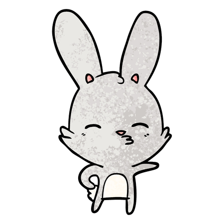 Curious bunny cartoon Illusztráció