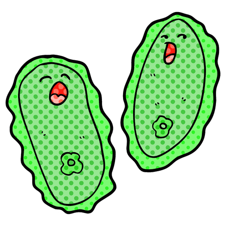 Cartoon green cells Illustration