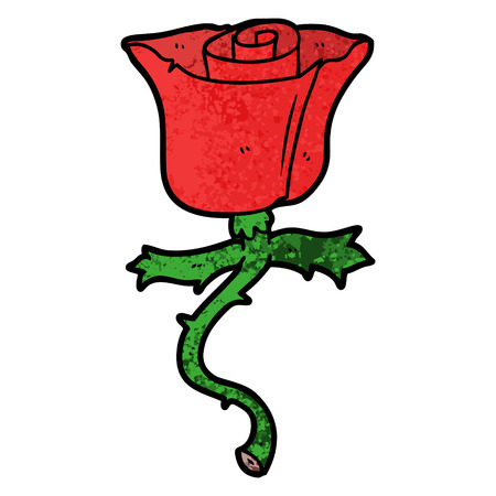 cartoon rose with thorns Stock Vector - 95745466
