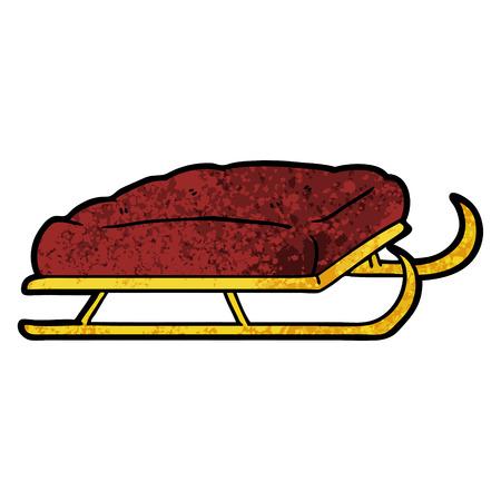 Cartoon sled illustration