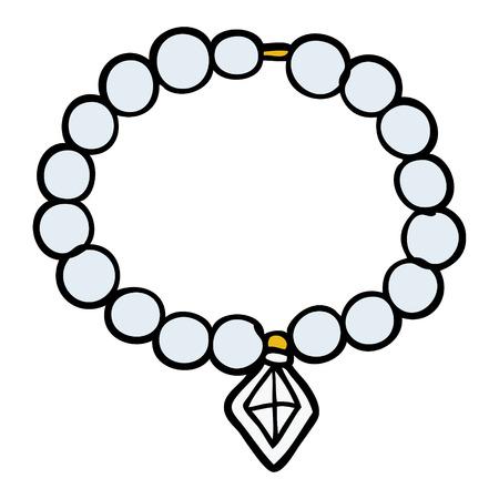 Cartoon pearl necklace Stock Illustratie