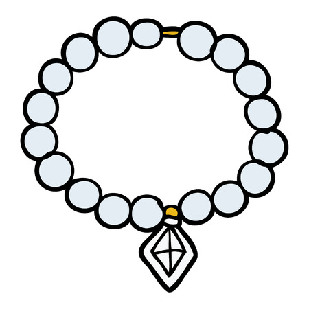 Cartoon pearl necklace Illustration