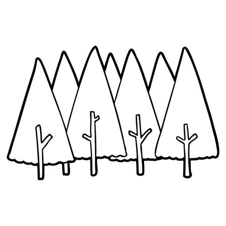 Cartoon trees illustration 版權商用圖片 - 95736683