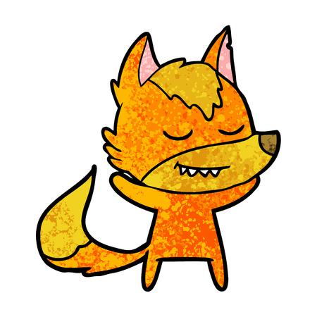 Relaxed fox cartoon character