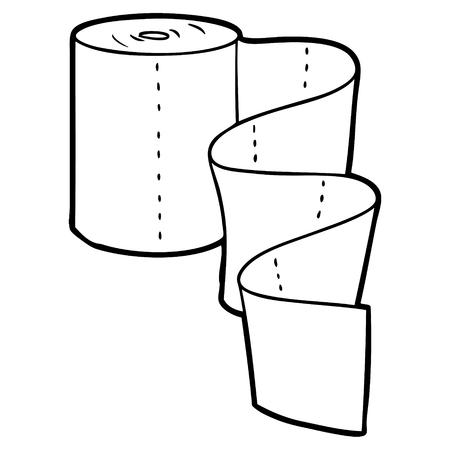 Cartoon tissue roll