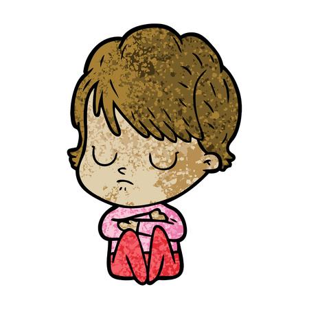 Cartoon woman sleeping Stock Vector - 95739288