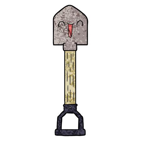 Happy  Cartoon shovel Иллюстрация
