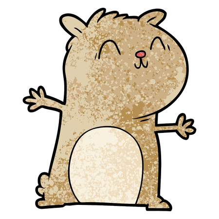 Cartoon gerbil happy