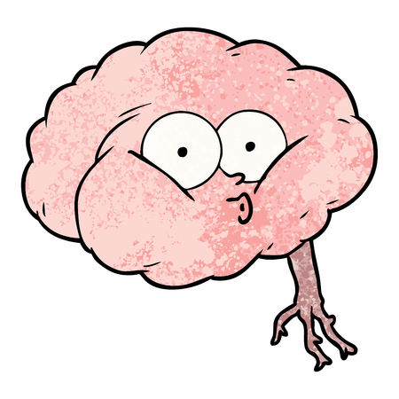 Cartoon impressed brain Illustration