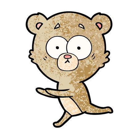 Worried bear cartoon Stock Illustratie