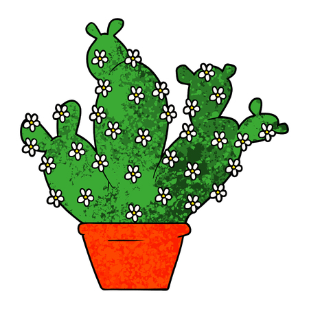 Cartoon cactus in vaso Archivio Fotografico - 95740309