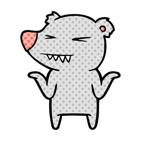 Annoyed bear cartoon character