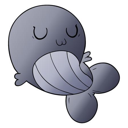 Cartoon Whale Schwimmen Standard-Bild - 95742647