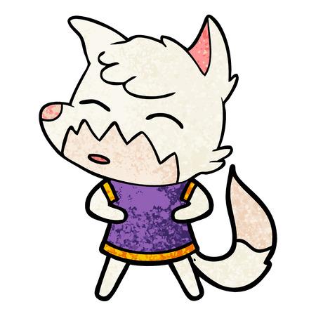 Smug cartoon fox Illustration
