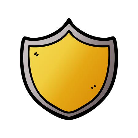 Cartoon shield in gold