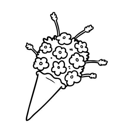 Cartoon flowers illustration 版權商用圖片 - 95745711