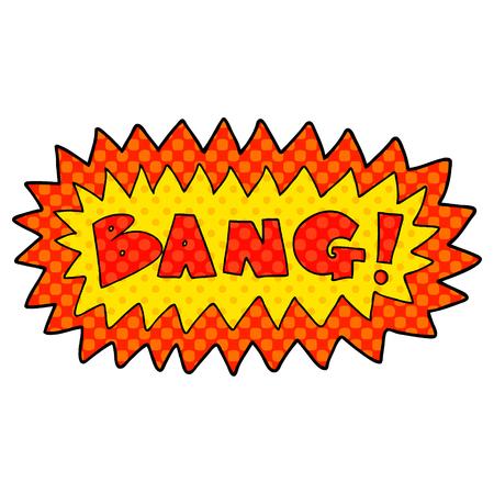 cartoon bang symbol Vector illustration. Ilustração